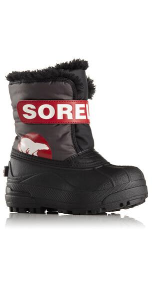Sorel Children Snow Commander Boots Dark Grey, Bright Red
